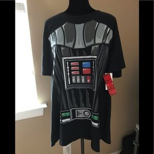 Star Wars NWT Darth Vader Tee/Costume w/ Cape; XXL